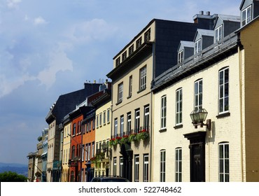 European architecture, row houses in Old Quebec, Canada