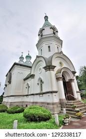 European Architecture, Russian Orthodox Church Hakodate at the Motomachi area, Hokkaido, Japan.