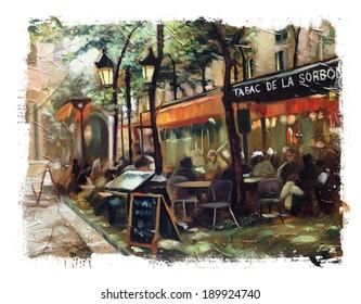 European Cafe Torn Edges