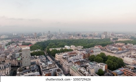 European Capital City London Central Skyline around St James's Park and Green Park in Westminster England UK