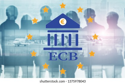 European Central Bank. ECB. Finance, capital banking and investment concept.