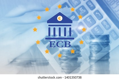 European Central Bank. ECB. Finance, capital banking and investment concept