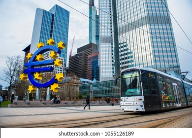 The European Central Bank is the central bank for the euro and administers monetary policy of the eurozone. The headquarter is in Frankfurt, Germany,March 2018