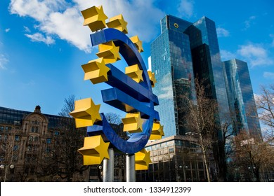 The European Central Bank is the central bank for the euro and administers monetary policy of the eurozone. The headquarter is in Frankfurt, Germany,December 2018