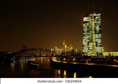 European central bank in Frankfurt am Main. Photo taken on: December 15th, 2016.