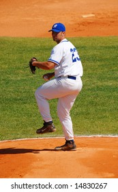 European Championship Qualifier, 09 to 12 Jul 2008 Abrantes, Portugal; Greece vs Russia (Final) - Greek pitcher LYONS Thomas J. - Final result Greece 5 - Russia 0