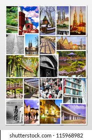 European city in collage- Wroclaw/Poland/