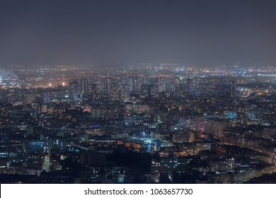 European cityscape by night