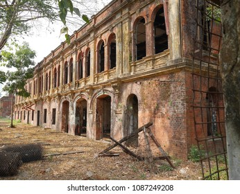 With its European  colonial-era brick facade, Yangon's historic Secretariat or Ministers' Building, the site of Gen Aung San's 1947 assasination, sits idle before restoration.