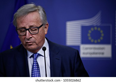 European Commission President Jean-Claude Juncker holds a press conference at the EU Commission headquarters in Brussels, Belgium on Feb. 22, 2017