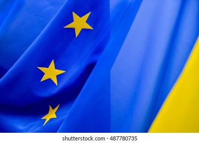 European Community flag with yellow stars
