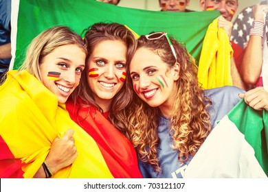 European Female Fans from Germany Spain and Italy