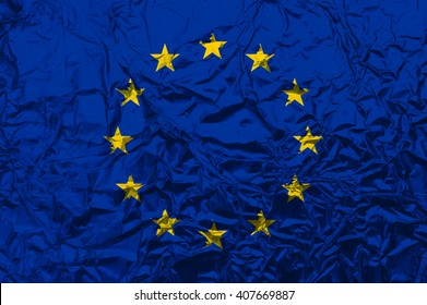 An European flag raster illustration.