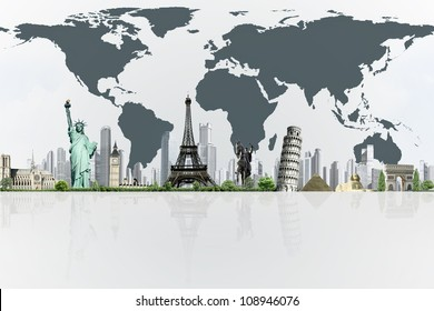 European holidays. traveling background. concept