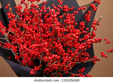 European Holly (Ilex) bouquet