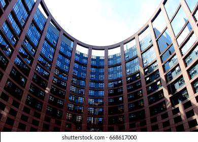 European parliament, inner courtyard, Strasbourg