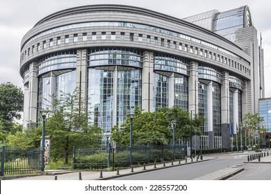 European Parliament offices. Brussels, Belgium.