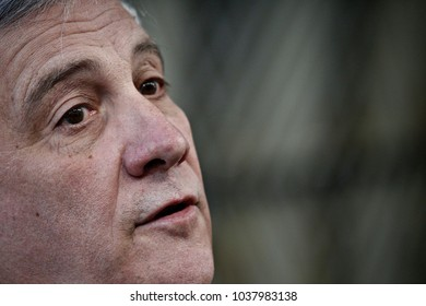 European Parliament President Antonio Tajani  arrives for the Informal meeting of the 27 European Heads of States of Governments in Brussels, Belgium, 23 February 2018.
