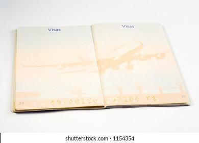 European passport empty page