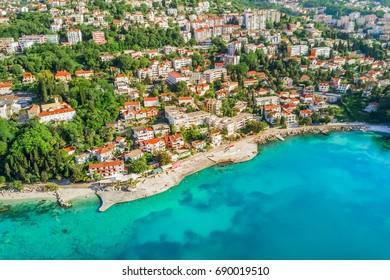 European resort city, top view