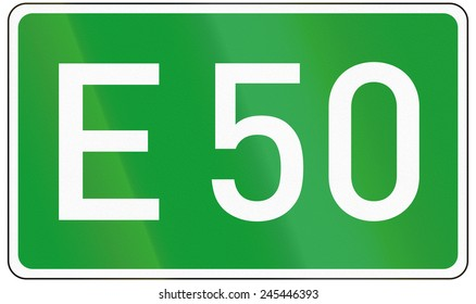 European road number sign for E50.