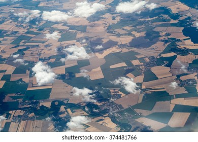 European space viewed from the plane ( Bucharest - London route)