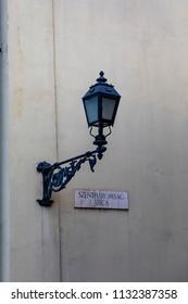 European street lamp.