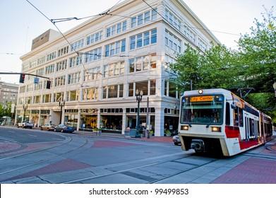 European style streetcars in Portland Oregon