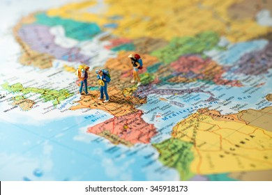 European tourism and travel concept. Macro photo