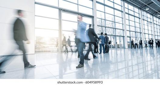 european tradeshow visitors