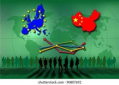 European Union and China: statistics lines