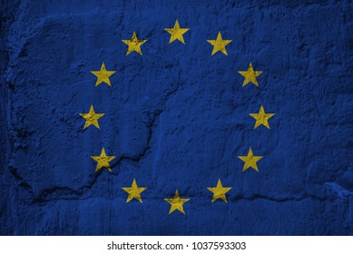 An European Union flag grunge texture