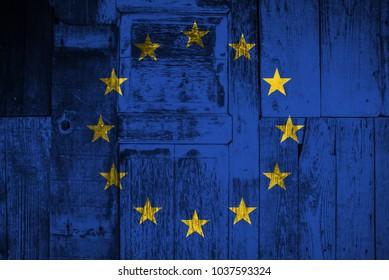 An European Union flag grunge texture