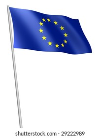 European Union flag. Isolated with clipping path