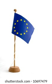 European Union Flag Miniature Isolated on White background