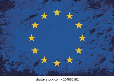 European Union Grunge background. Raster version