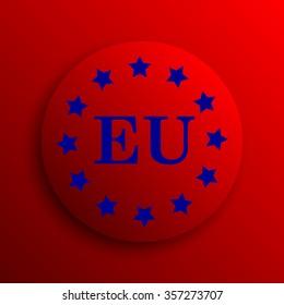 European union icon. Internet button on white background.