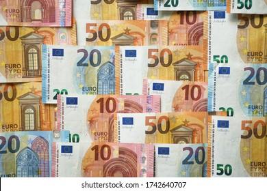 Monnaie de l'Union européenne Euro différents billets de papier