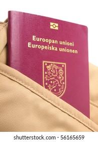 European union Passport. Close up