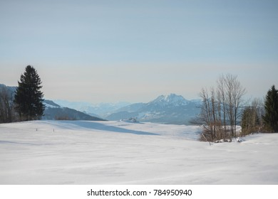 European winter landscape (Switzerland)