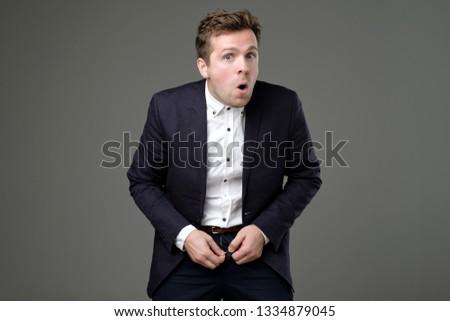 c5ecdd49fb5d European Young Man Suit Zip His Stock Photo (Edit Now) 1334879045 ...