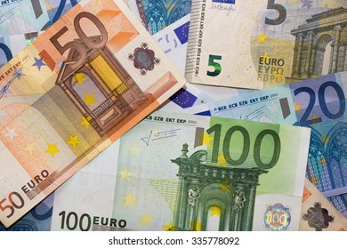 Euros - 100, 50, 20 and 5 euro
