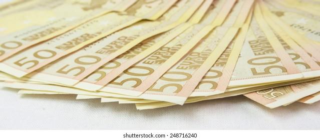 euros money close up 50