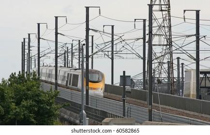 Eurostar Flys Over Bridge