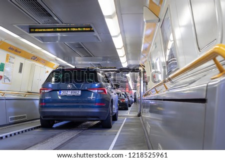 Eurotunnel Train France Uk July 19 Stock Photo Edit Now 1218525961