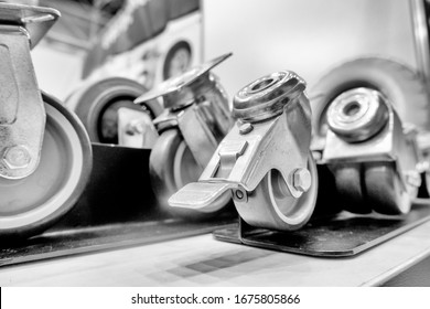 Euro-wheels. Industrial wheels and castors. Accessories for carts, equipment, mobile containers and more