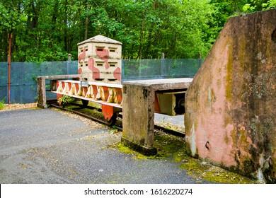 EUSSENHAUSEN, BAVARIA, DDR MONUMENT, GERMANY - JULY 5, 2019 Border station of the former inner German borders between GDR and Germany at Eussenhausen