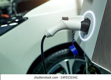 EV fuel Plug Charger technology for electric vehicle hybrid car.