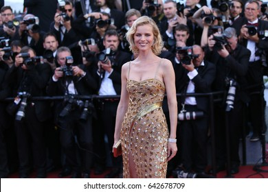Eva Herzigova attends the 'Ismael's Ghosts (Les Fantomes d'Ismael)' screening and Opening Gala during the 70th annual Cannes Film Festival at Palais  on May 17, 2017 in Cannes, France.