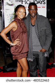 Eva Marcille and Lance Gross at the Los Angeles premiere of 'Nothing Like The Holidays' held at the Grauman's Chinese Theater in Hollywood, USA on December 3, 2008.